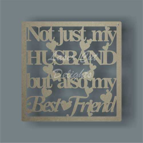 Framed Plaque Not Just My Husband Wife Partner But Also My