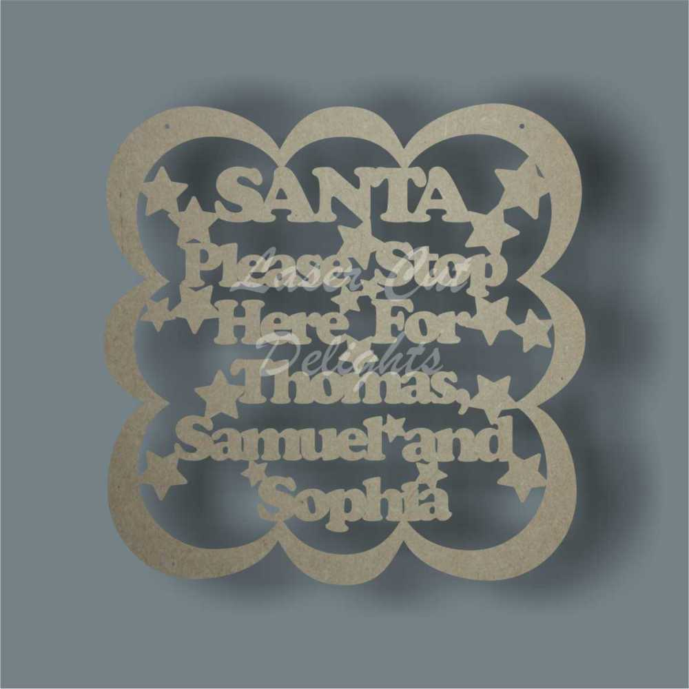 Bubble Plaque - SANTA Please Stop Here For 3mm 30x30cm