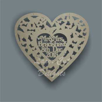 Wedding Heart of Butterflies + Personalisation 3mm 40cm