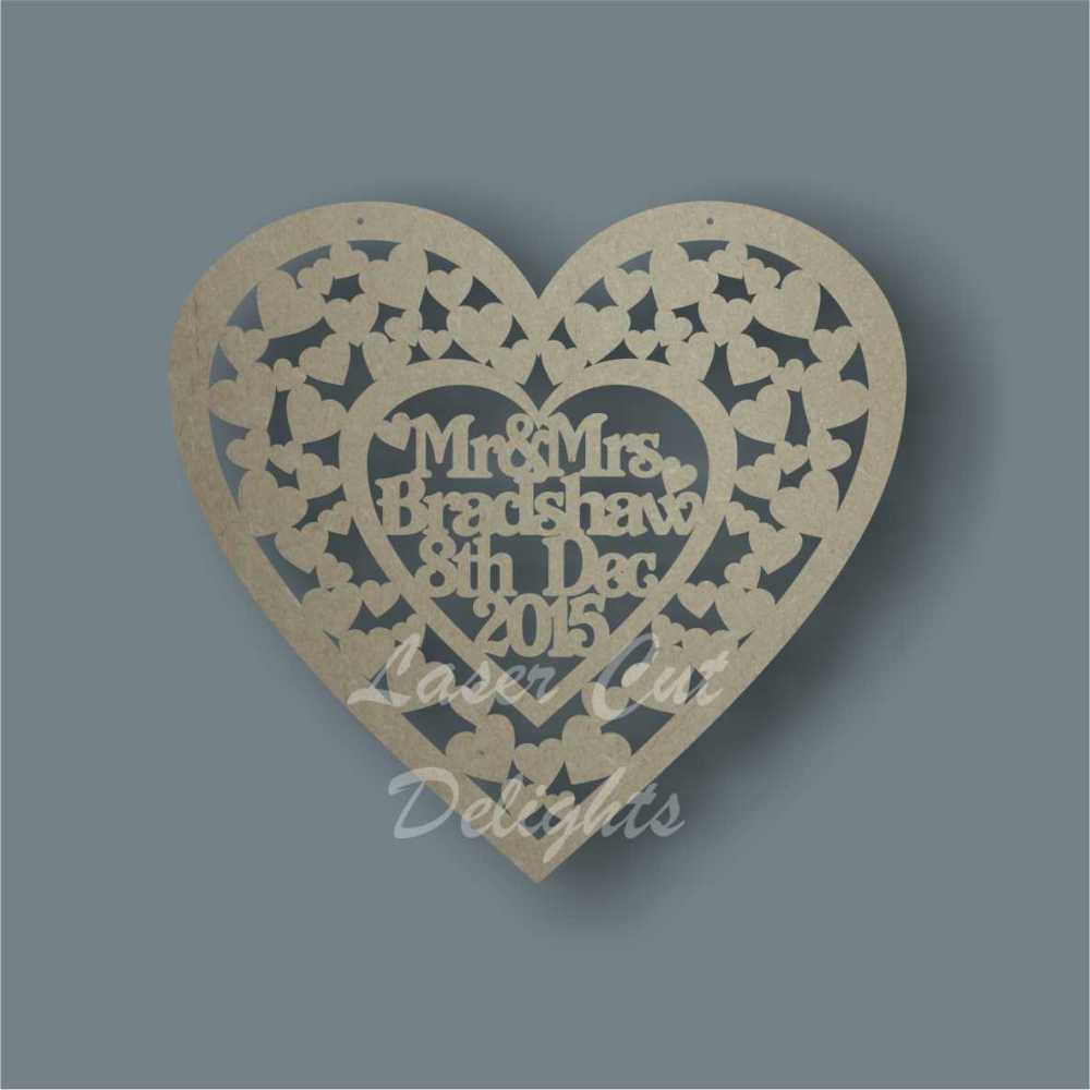 Heart of Hearts + Personalisation Cut Around 3mm