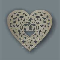 Heart of hearts with MUM MOM MAM NAN 3mm 30cm (wide)