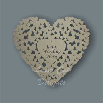 Heart of Hearts + Personalisation Cut Through 3mm