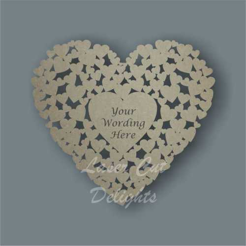 Heart of Hearts + personalisation 30cm 3mm