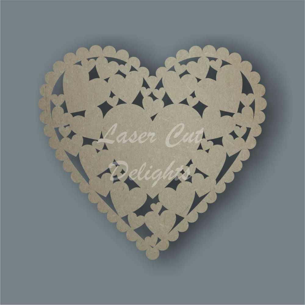 Scalloped heart FULL of hearts 3mm 20cm