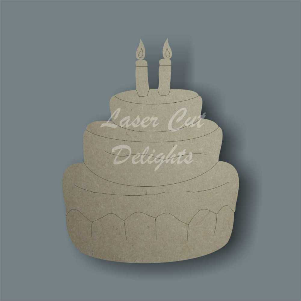 Birthday Cake 3mm 8cm