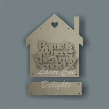House 3D - Home is where the Army RAF Navy Sends Us 20cm 3mm