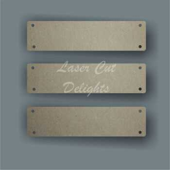 Extra Address Memory Plaque BANNERS 3mm