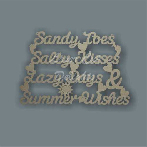 Sandy Toes Salty Kisses Lazy Days & Summer Wishes 3mm 30x20cm