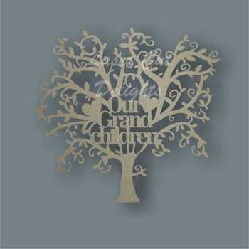 GRANDCHILDREN Tree Basic Font (OUR or MY) 3mm
