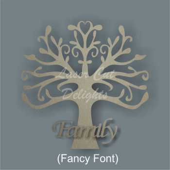 FAMILY Tree 3D (various fonts) 20cm 3mm