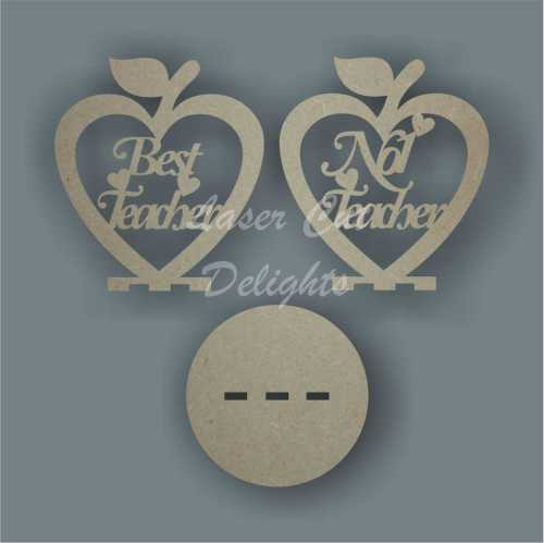 Apple HEART with words (hanging or freestanding) 3mm