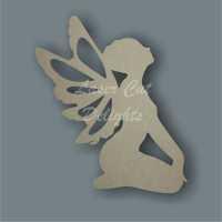 Fairy Kneeling Looking Up / Laser Cut Delights