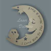 Moon OWL with wordings 3mm