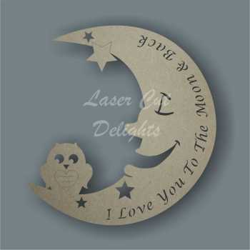 Moon OWL with wordings / Laser Cut Delights
