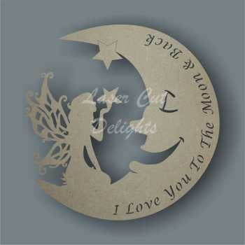 Moon FAIRY with Wording / Laser Cut Delights