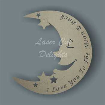 Moon BASIC with wording / Laser Cut Delights