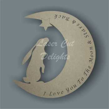 Moon HARE with wording 3mm