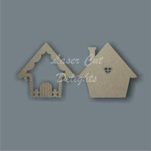 3D Fairy Door SWEET COTTAGE 3mm 15cm