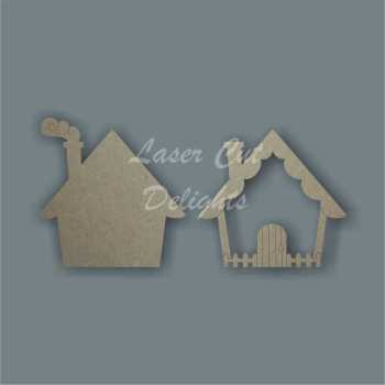 3D Fairy Door BASIC COTTAGE 3mm 15cm