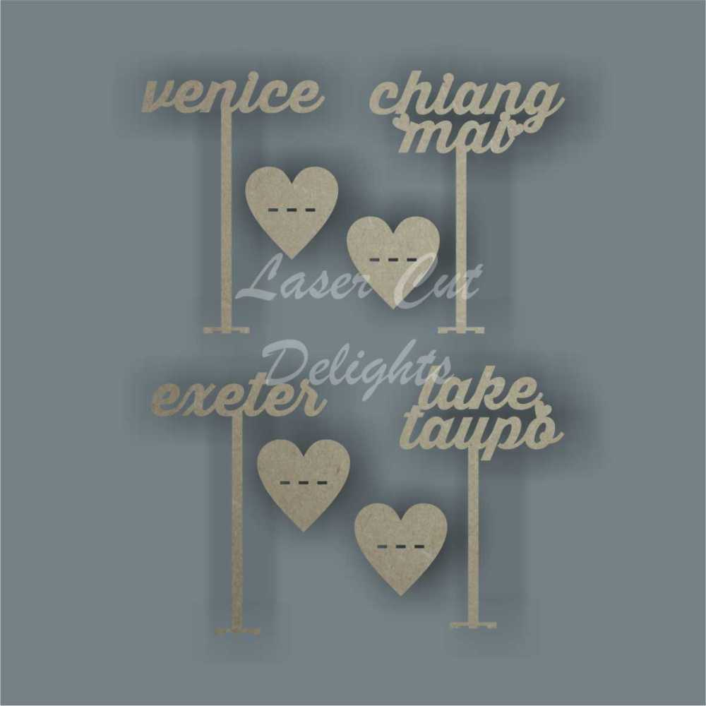 Design Your Own Table Number Word / Laser Cut Delights