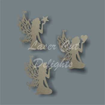 Fairy Kneeling with Heart or Star / Laser Cut Delights