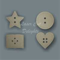 Buttons / Laser Cut Delights