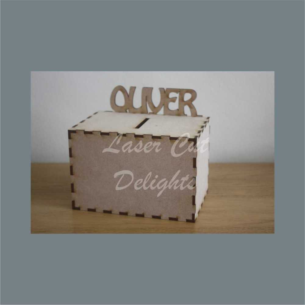 Money Box - Personalised (on back) / Laser Cut Delights