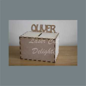 Money Box - Personalised (on back) 3mm 15x10x10cm
