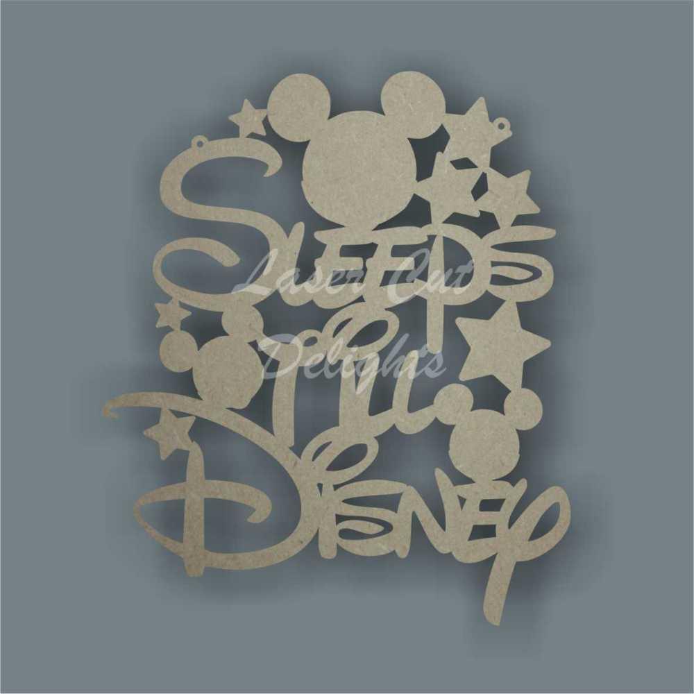 Sleeps Til Disney 25cm 3mm