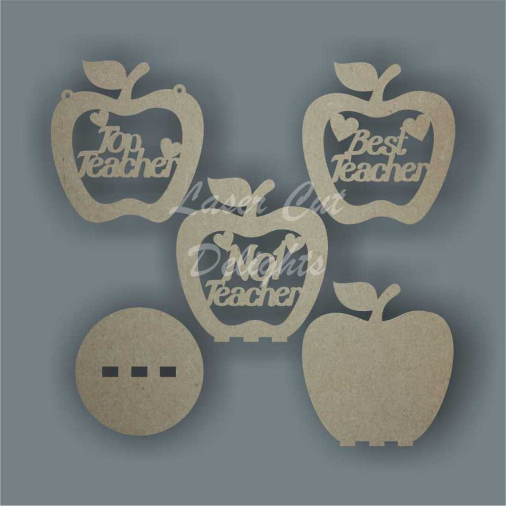 Bauble APPLE with set wording / Laser Cut Delights
