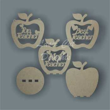 Bauble APPLE with set wording 10cm 3mm