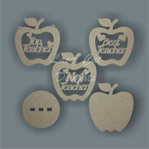 Apple Shape for Teacher (hanging or freestanding) 3mm