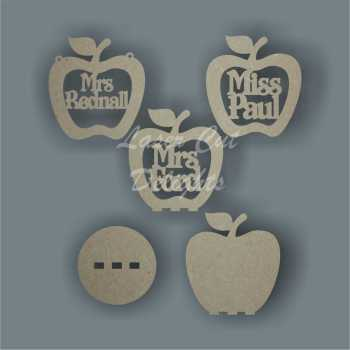 Bauble APPLE with Teacher Name 10cm 3mm