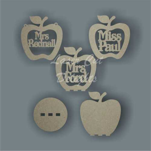 Apple Shape with Teacher Name (hanging or freestanding) 3mm