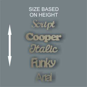 *Make Your Own Custom SINGLE WORD (based on HEIGHT) 3 & 6mm
