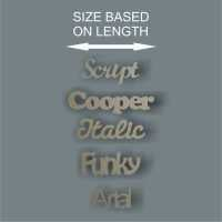 *By Length Single Words (from 5cm) Wall Names/ Laser Cut Delights