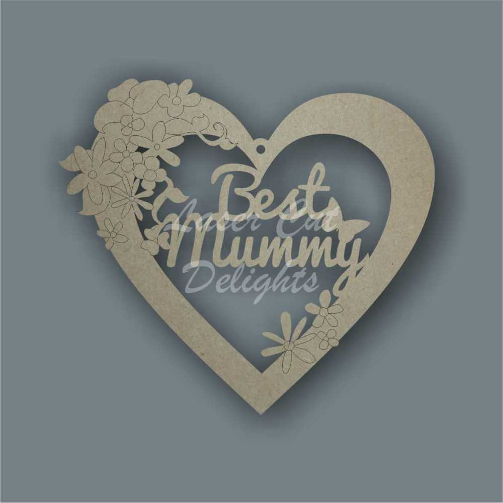 Floral Heart - Best MUM DAD / Laser Cut Delights