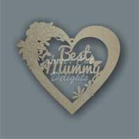 Floral Heart - Best MUM DAD / Laser Cut Delights