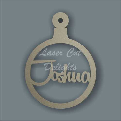 Bauble Fancy - Personalised with ONE name 3mm 12cm