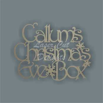 Christmas Eve Box Lid Topper NO FRAME various fonts (First Name/s Only) 3mm