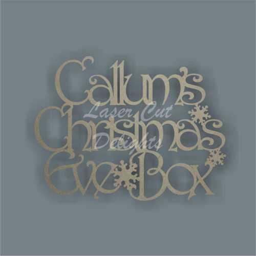 Christmas Eve or Xmas Eve Box / Memory Box PLAQUE (Personalised) 3mm