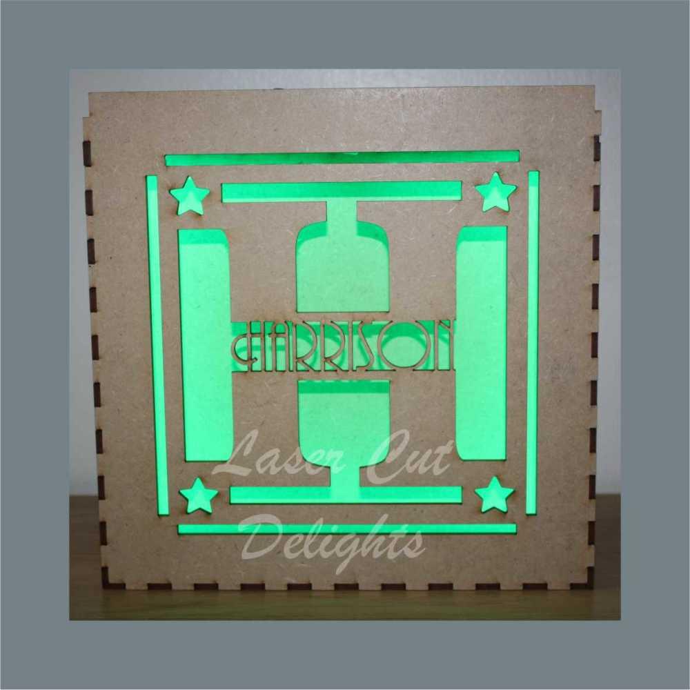 Initials Light Box 25x25cm