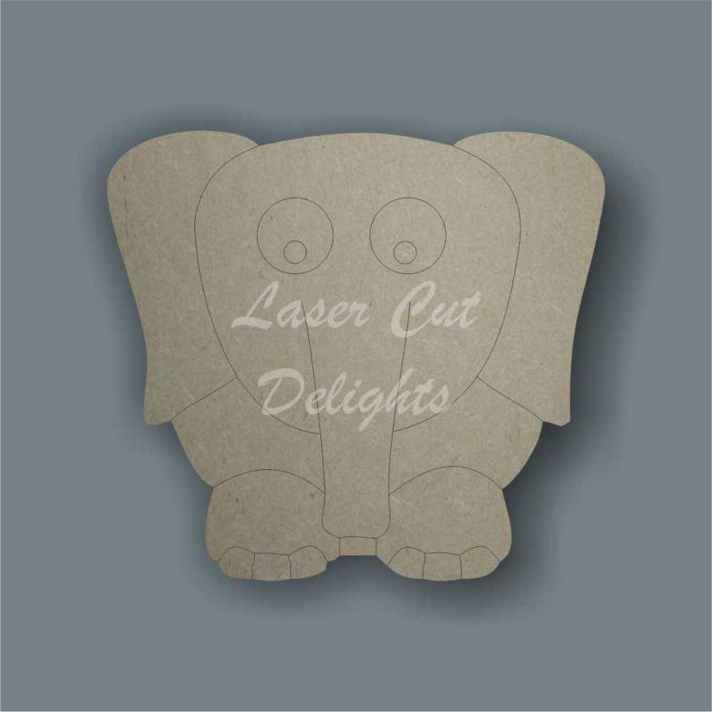 Elephant cartoon 3mm 10cm