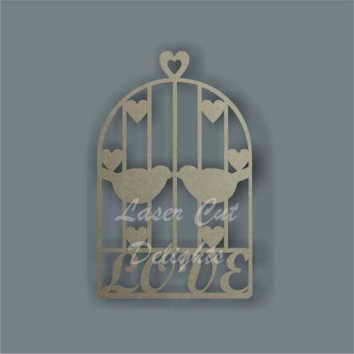 Love Birdcage with hearts 3mm