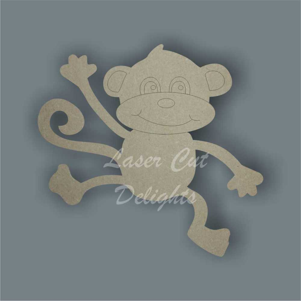 Monkey Hanging 3mm 10cm