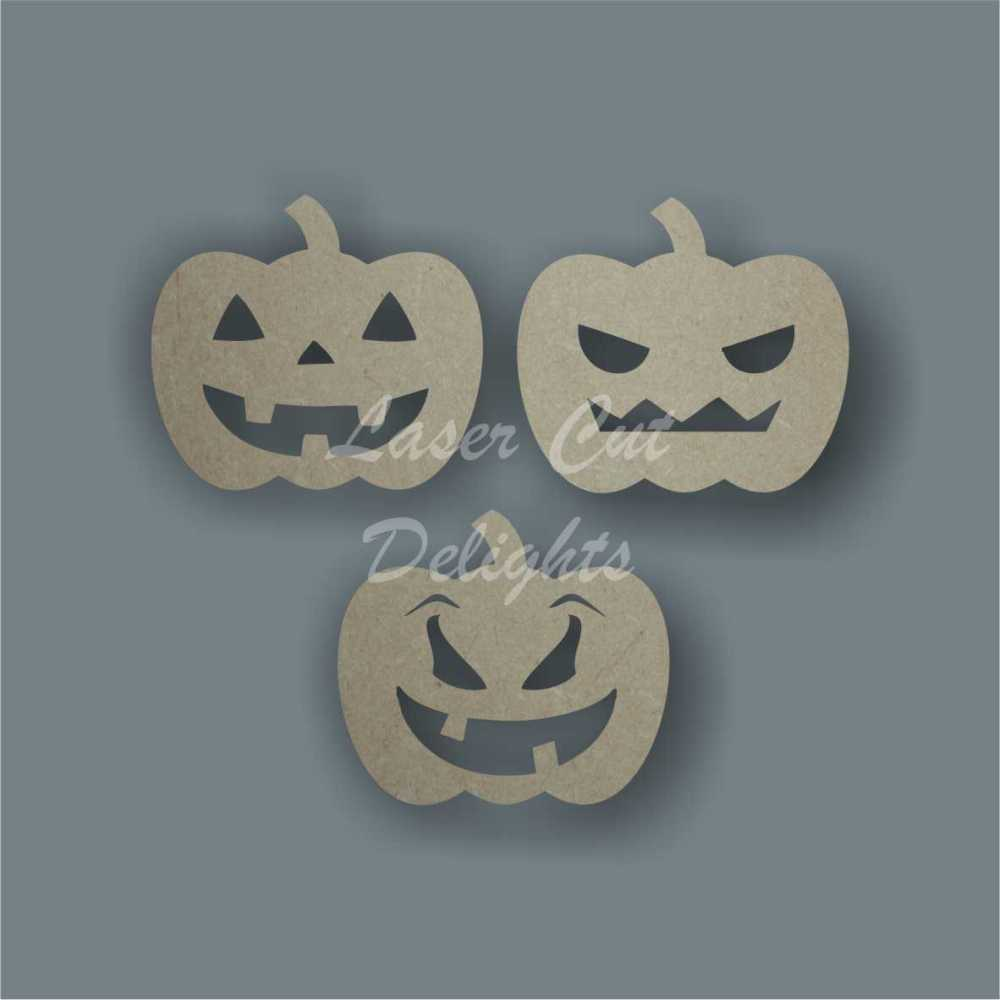 Pumpkin (Pk of 3) 3mm 10cm wide