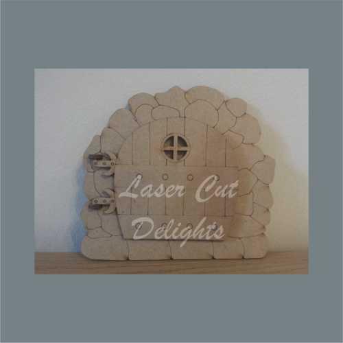 3D Stone Edged Moving Fairy Door 3mm 15cm