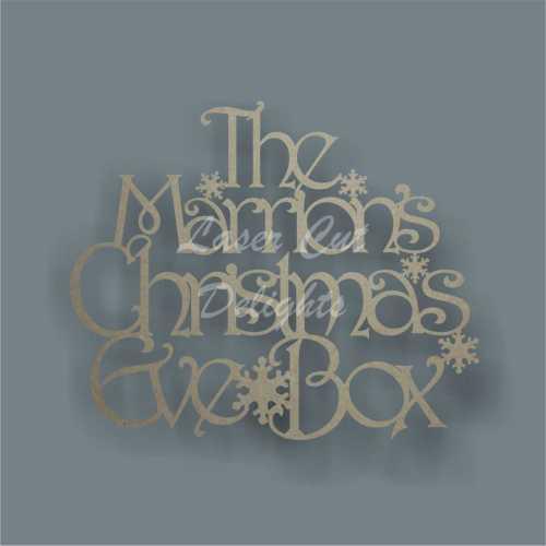 Christmas Eve or Xmas Eve Box / Memory Box SURNAME PLAQUE (various fonts) 3