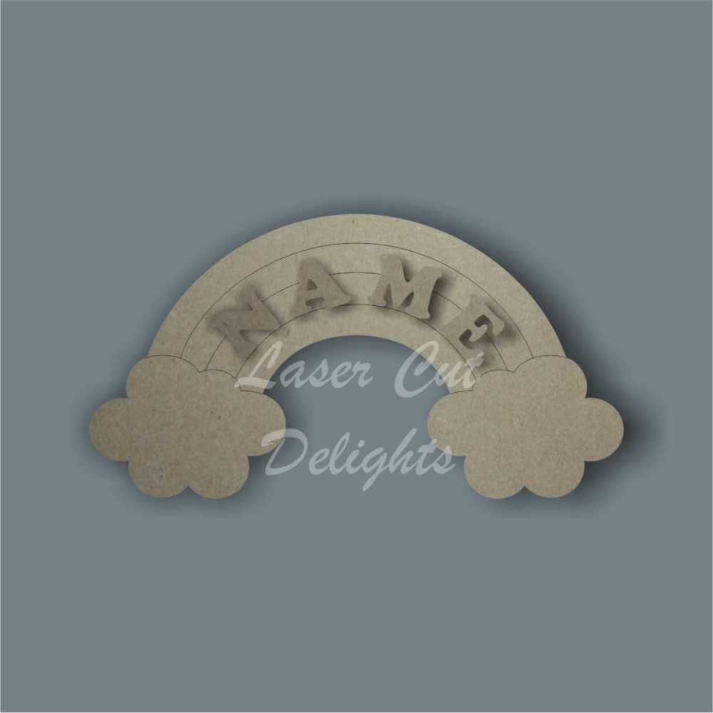 Rainbow Door Plaque + Name 3mm 30cm