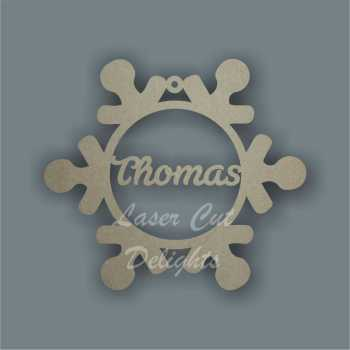 Bauble SNOWFLAKE Personalised / Laser Cut Delights